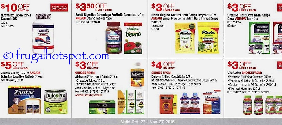 Costco Coupon Book: October 27, 2016 - November 27, 2016. Frugal Hotspot. Page 11