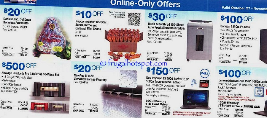 Costco Coupon Book: October 27, 2016 - November 27, 2016. Frugal Hotspot. Page 14