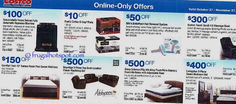 Costco Coupon Book: October 27, 2016 - November 27, 2016. Frugal Hotspot. Page 16