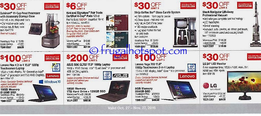 Costco Coupon Book: October 27, 2016 - November 27, 2016. Frugal Hotspot. Page 3