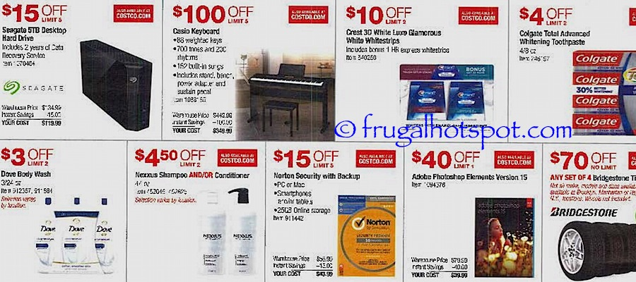 Costco Coupon Book: October 27, 2016 - November 27, 2016. Frugal Hotspot. Page 4