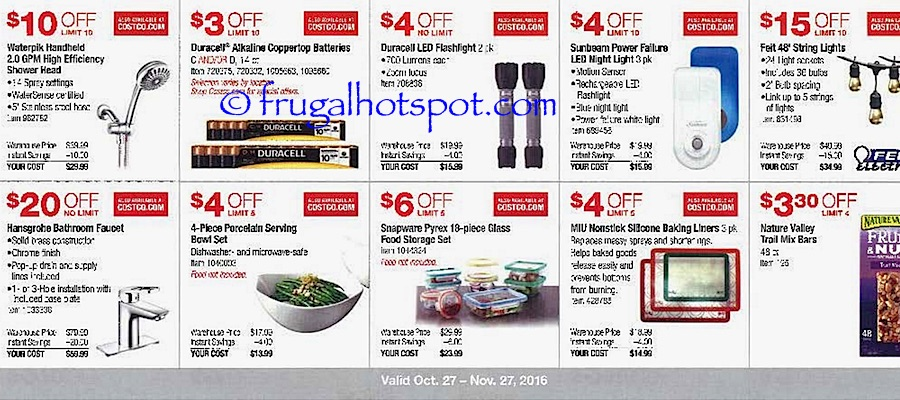 Costco Coupon Book: October 27, 2016 - November 27, 2016. Frugal Hotspot. Page 5