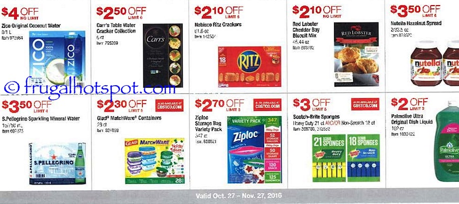 Costco Coupon Book: October 27, 2016 - November 27, 2016. Frugal Hotspot. Page 7