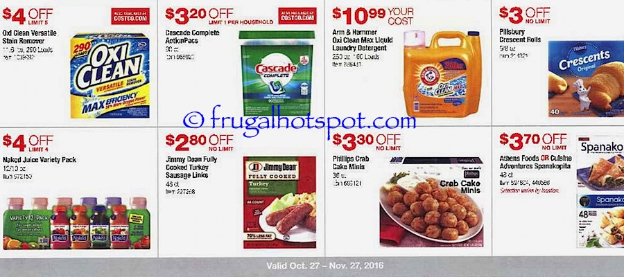 Costco Coupon Book: October 27, 2016 - November 27, 2016. Frugal Hotspot. Page 9