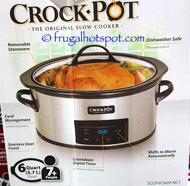 Crock-Pot 6-Quart Slow Cooker with Bonus Little Dipper Costco | Frugal Hotspot