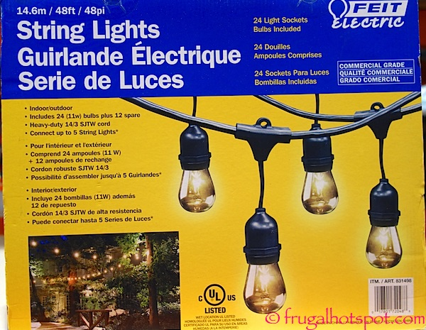 Costco Sale: Feit Electric String Lights $34.99