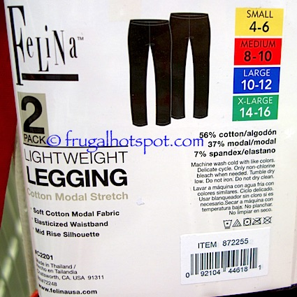 Felina Ladies Lightweight Legging 2-Pack Costco | Frugal Hotspot
