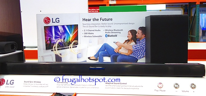 LG SHC4 2.1 Channel Sound Bar with Wireless Subwoofer Costco | Frugal Hotspot