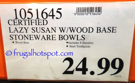 Lazy Susan with 4 Ceramic Serving Trays Costco Price | Frugal Hotspot