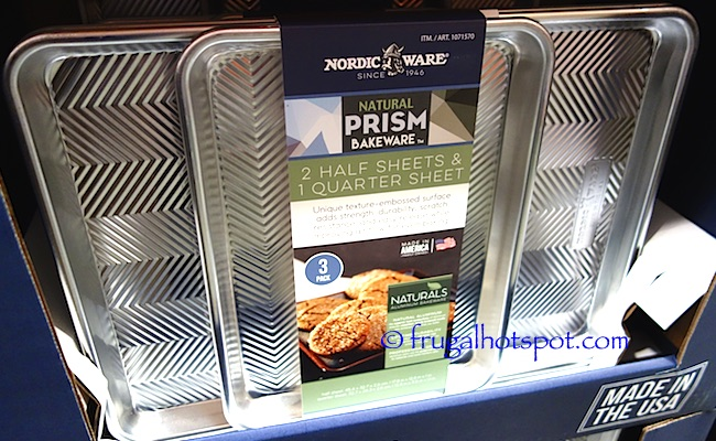Nordic Ware Natural Prism Bakeware 3-Piece Baking Sheets Costco | Frugal Hotspot