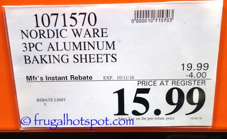 Nordic Ware Natural Prism Bakeware 3-Piece Baking Sheets Costco Price | Frugal Hotspot