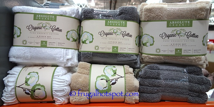 Absolute Organic Cotton 4-Piece Towel Set Costco | Frugal Hotspot