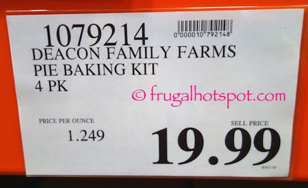 Deacon Family Farms Pie Baking Kit Costco Price | Frugal Hotspot