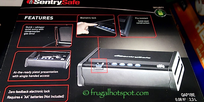 Sentry Safe Quick Access Biometric Pistol Safe Costco | Frugal Hotspot