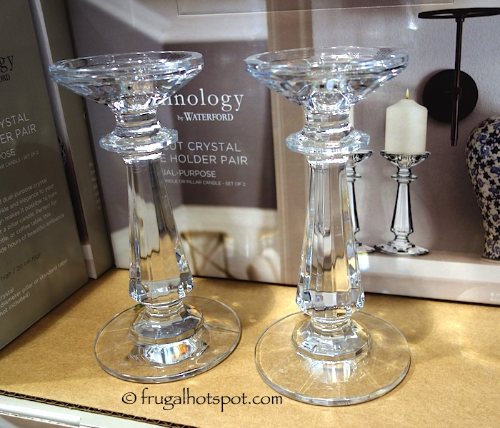 Illuminology by Waterford Crystal Candle Holder 2-Piece Costco | Frugal Hotspot