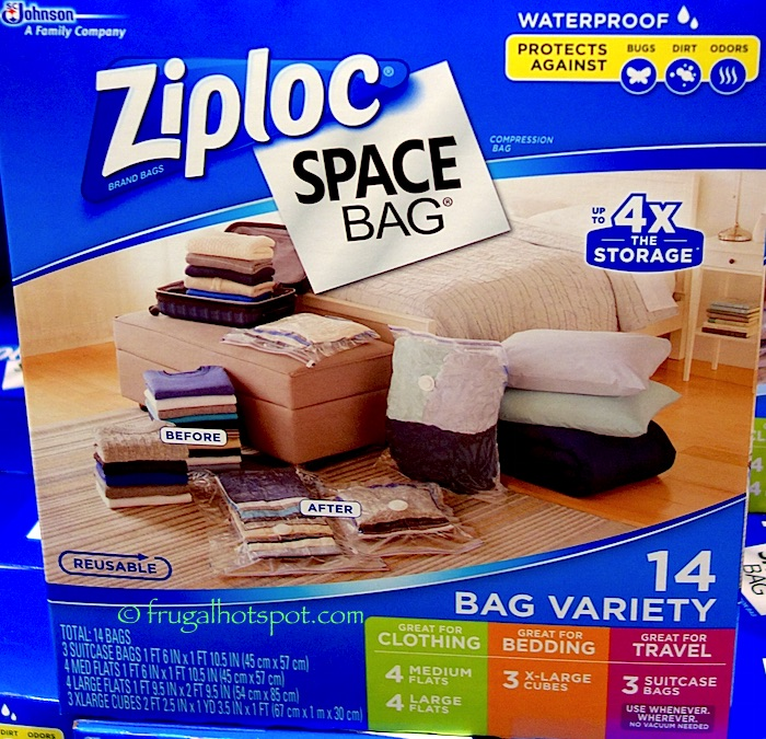 Ziploc Space Bag 14-count Variety | Frugal Hotspot