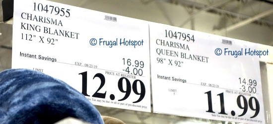Charisma Blanket King or Queen Costco Sale Price