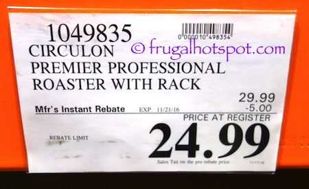 Circulon Premier Professional Roaster with Rack Costco Price | Frugal Hotspot