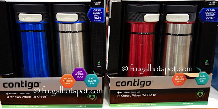 Contigo Midtown Vacuum-Insulated Travel Mugs 2-Pack Costco | Frugal Hotspot