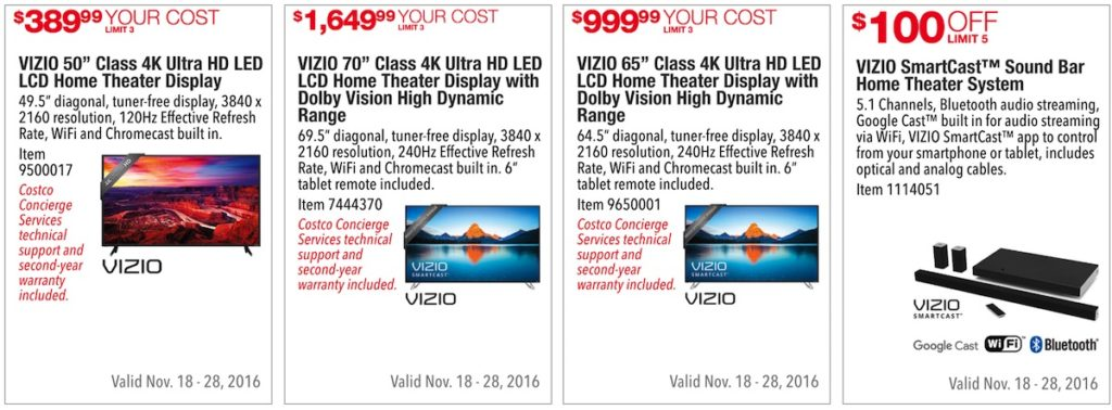 Costco Pre-Black Friday Holiday Sale: November 18 - 28, 2016. Prices Listed. | Frugal Hotspot | Page 2