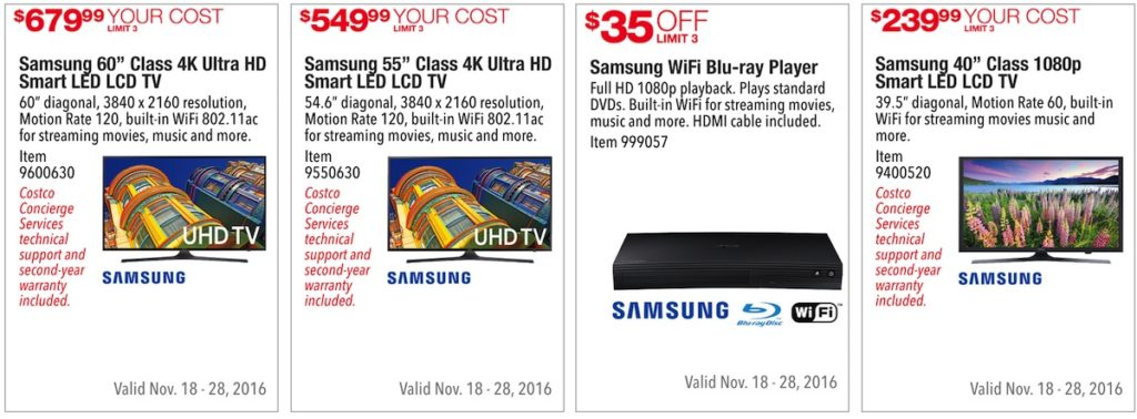 Costco Pre-Black Friday Holiday Sale: November 18 - 28, 2016. Prices Listed. | Frugal Hotspot | Page 5