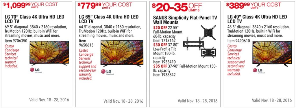 Costco Pre-Black Friday Holiday Sale: November 18 - 28, 2016. Prices Listed. | Frugal Hotspot | Page 7