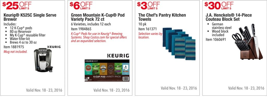 Costco Pre-Black Friday Holiday Sale: November 18 - 23, 2016. Prices Listed. | Frugal Hotspot | Page 1