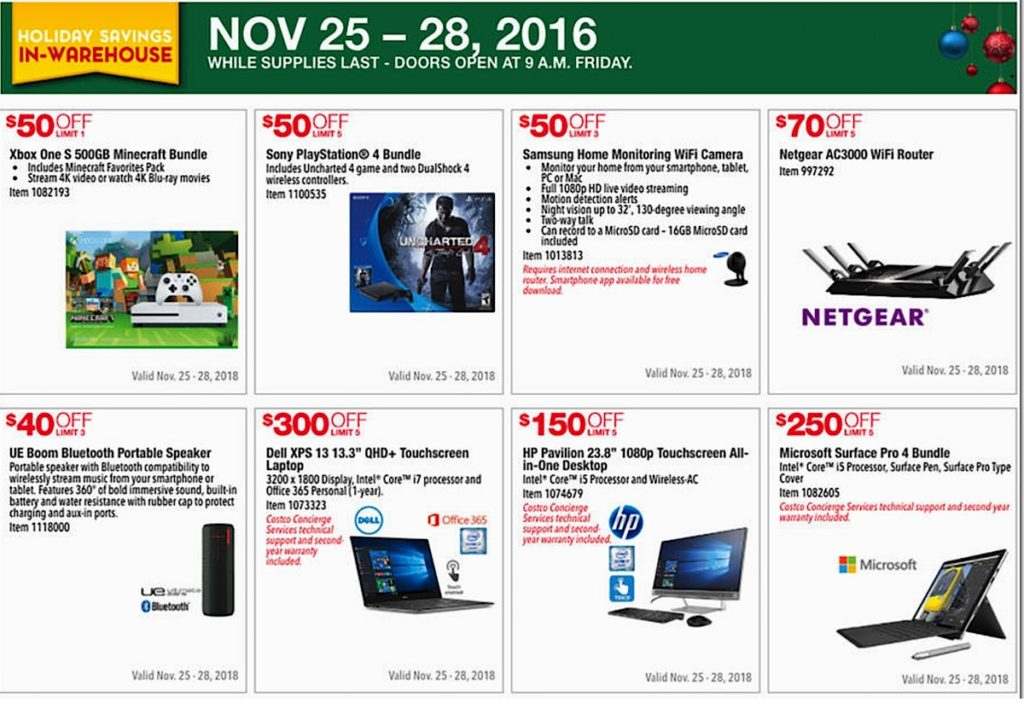 Costco 2016 Black Friday Ad: November 25 - 28, 2016. Prices Listed. | Page 1 | Frugal Hotspot