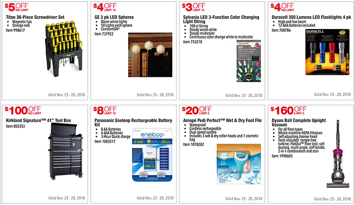 Costco 2016 Black Friday Ad: November 25 - 28, 2016. Prices Listed.   Page 3   Frugal Hotspot