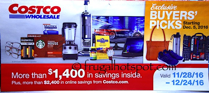 Costco Coupon Book: November 28, 2016 – December 24, 2016. Prices Listed. | Frugal Hotspot
