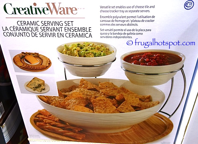CreativeWare Ceramic Serving Set Costco | Frugal Hotspot