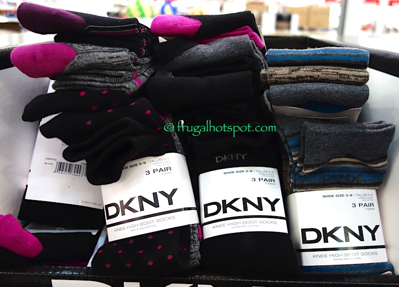 DKNY Ladies Knee High Boot Socks 3-Pairs Costco | Frugal Hotspot