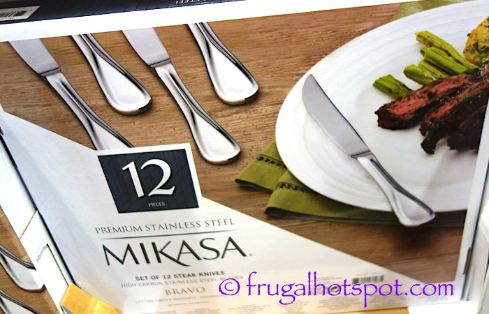 Mikasa Bravo Stainless Steel Set of 12 Steak Knives Costco | Frugal Hotspot