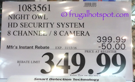 Night Owl HD Video Security DVR + 8 Cameras Costco Price | Frugal Hotspot
