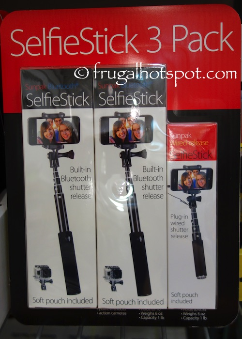 Sunpak Selfie Stick 3-Pack Costco | Frugal Hotspot