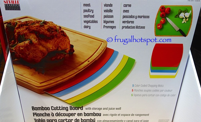 Seville Classics Bamboo Cutting Board with Mats Costco | Frugal Hotspot