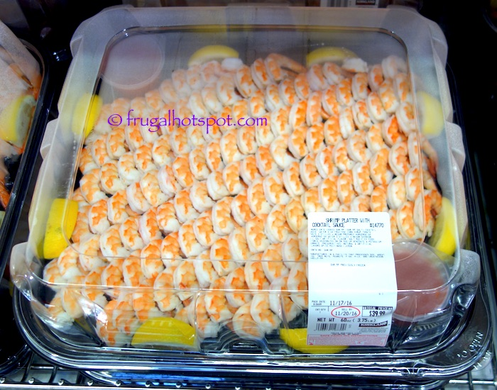 Shrimp Platter with Cocktail Sauce (serves 20-24) Costco | Frugal Hotspot