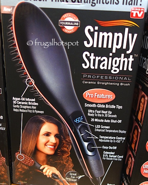 Simply Straight Professional Ceramic Straightening Brush Costco | Frugal Hotspot