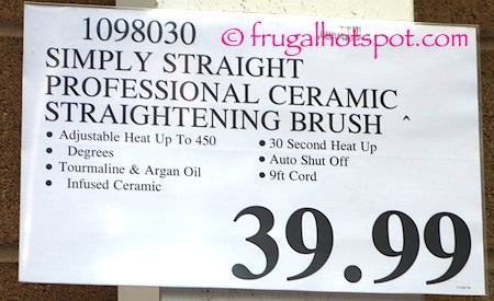 Simply Straight Professional Ceramic Straightening Brush Costco Price | Frugal Hotspot