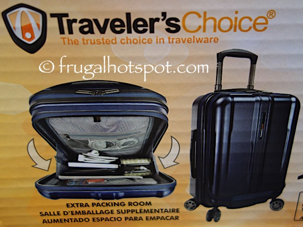 "Traveler's Choice 20"" Front Opening Carry-On Spinner Costco 