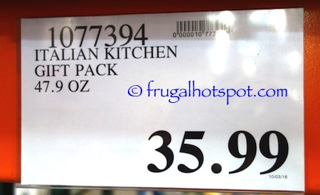 Italian Kitchen Gift Pack Costco Price | Frugal Hotspot