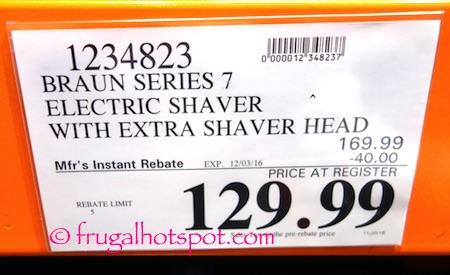 Braun Series 7 Wet & Dry Electric Shaver Costco Price | frugal hotspot