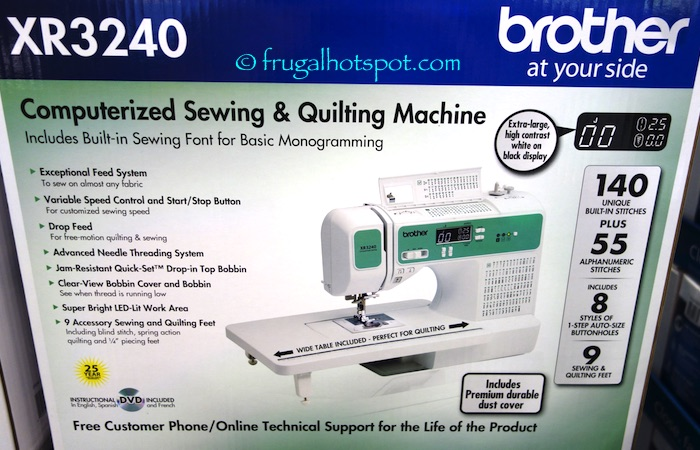 Brother Xr3240 Computerized Sewing Quilting Machine Costco