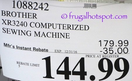 Brother Xr3240 Computerized Sewing Quilting Machine Costco Price