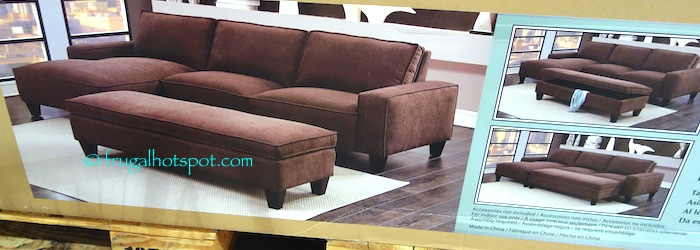 Costco Sale: Chaise Sofa with Storage Ottoman $649 99