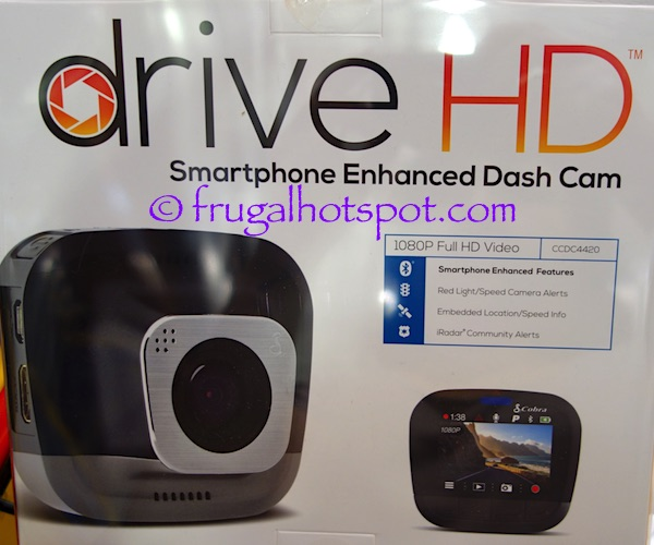 Cobra Drive HD Smartphone Enhanced Dash Cam Costco | Frugal Hotspot