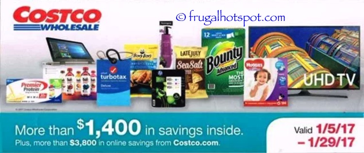 Costco Coupon Book: January 5, 2017 – January 29, 2017. Prices Listed.