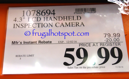 "4.3"" LCD Handheld Inspection Camera Costco Price 