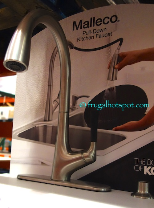 Kohler Malleco Pull Down Kitchen Faucet With Soap Dispenser In Vibrant Stainless Finish Costco Frugal Hotspot