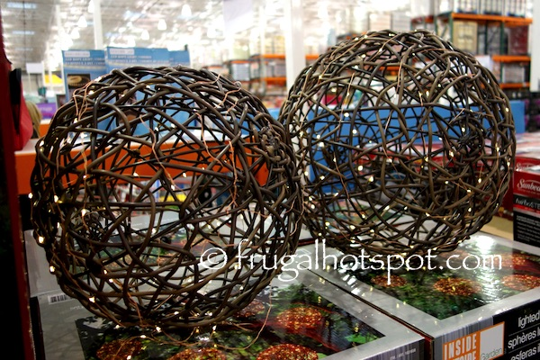 Outdoor Lighted Spheres Costco sale inside outside garden lighted spheres 2 pk 3999 check out amazon below for more options workwithnaturefo